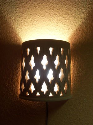 Mediterranean Moroccan Clay Wall Light Mouna