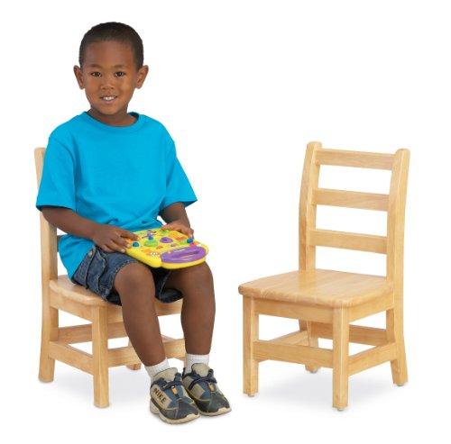 Jonti-Craft 5912JC2 KYDZ Ladder Back Chair Pair, 12