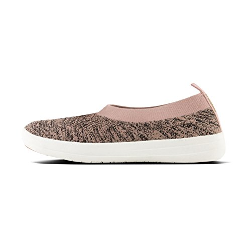 Ballerina Überknit Tm on Trainers Metallic Women's 502 Multicolour Nude Fitflop Slip Black EZxwX56