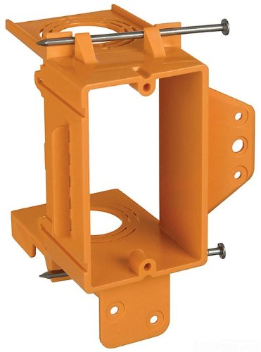 Union GBRSC100A Single-Gang Low-Voltage Bracket, Orange, Pack of 1 ()