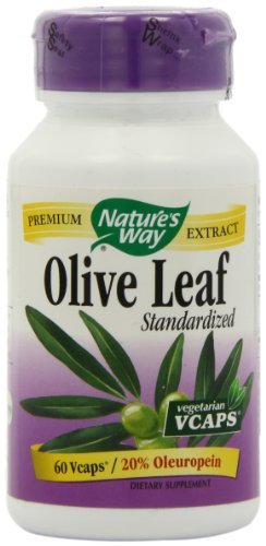 Nature's Way Premium Extract Standardized Olive Leaf 20% Oleuropein, 60  VCaps