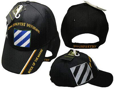 U.S. Army 3rd Infantry Division Rock The Marne Black Shadow Embroidered Cap Hat