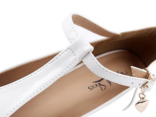 Moyen Escarpins Talon Boucle Petit Femme AgeeMi Blanc Shoes Escarpins Femme Bout Vintage Round Chaussure Chaussures Talon IqpxwxXEC
