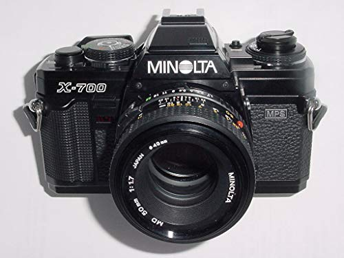 Minolta X-700 Film Camera And A 50mm f/1.7 Manual Focus Lens (Best Lens For Minolta X 700)