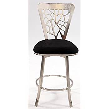Chintaly Imports Laser Cut Back Memory Swivel Bar Stool  sc 1 st  Amazon.com : swivel counter stools with backs - islam-shia.org