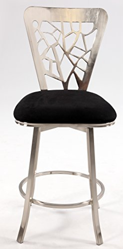 Chintaly Imports Laser Cut Back Memory Swivel Counter Stool