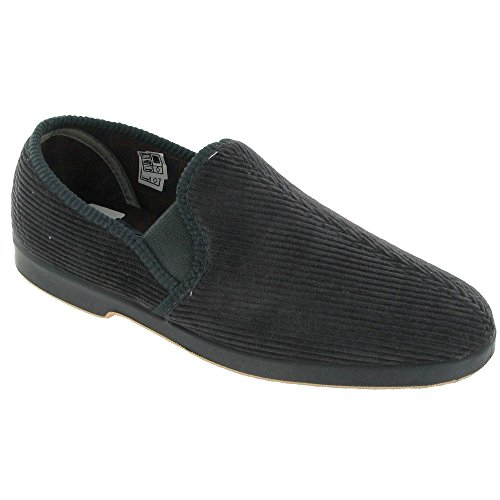 GBS Exeter Mens Twin Gusset Slipper / Mens Slippers Grey z3rSknj1HS