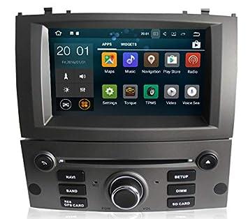 Sunshine Fly Android 8.0 Pantalla táctil Navi Radio de Coche GPS estéreo para Peugeot 407 2004-2010: Amazon.es: Electrónica