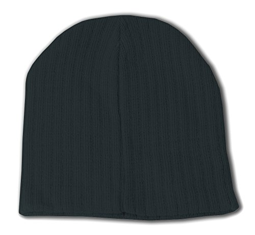 Short Cable Beanie-Black