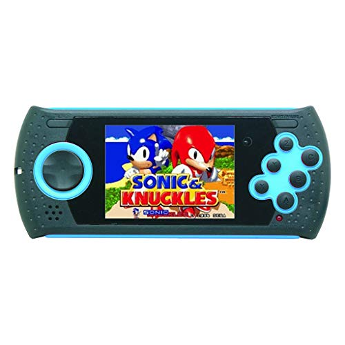 Zhaowei MD16 Simulator 3 inch Pluggable Card Game Consoles SEGA16BT Handheld PVP PXP FC Sega Game (Blue)
