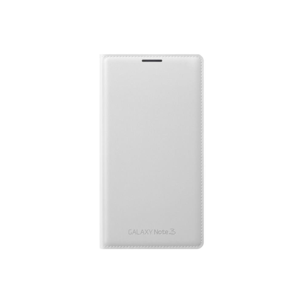 Samsung Wallet Flip - Funda para móvil Galaxy Note 3 (Incluye bolsillo interior para tarjeta), blanco- Versión Extranjera