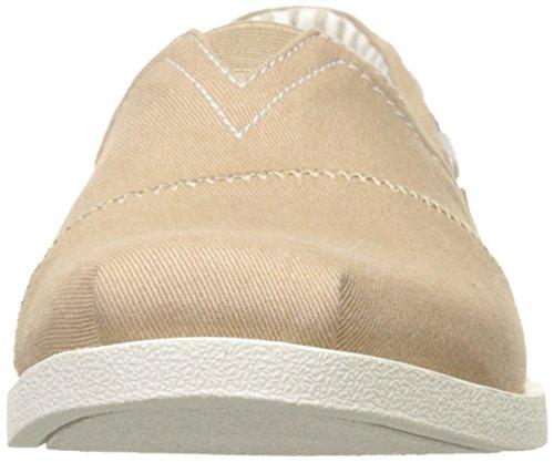 Skechers Bobs de Las Mujeres De Peluche Fashion Sandalias Planas pardo y blanco