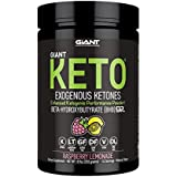 Giant Keto - Exogenous Ketones Supplement - BHB Salt Keto Powder, New and Improved Formula to Support Your Ketogenic Diet, Boost Energy and Burn Fat in Ketosis-Raspberry Lemonade-15 Servings