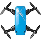 QWinOut S9 Mini Drone No Camera RC Helicopter Foldable Quadcopter Headless Mode Aircraft WiFi FPV Pocket Toys (Blue)