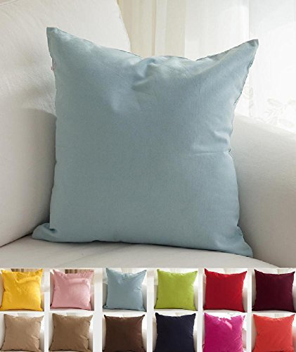 Tangdepot Cotton Solid Throw Pillow Covers 20 Quot X 20