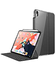"""i-Blason Case for iPad Pro 12.9 Inch (3rd Generation) 2018, [for Use ONLY with Smart Keyboard; Compatible with Official Smart] [Halo V2.0] Clear Protective Case with Pencil Holder, Black, 12.9"""""""