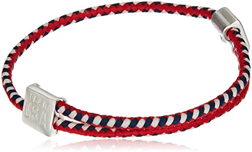 Alex and Ani Hope Rope, Red, White, Blue Bangle Bracelet -