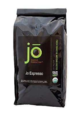 JO ESPRESSO: 2 lb, Medium Dark Roast, Whole Bean Organic Arabica Espresso Coffee, USDA Certified Organic Espresso, NON-GMO, Fair Trade Certified, Gourmet Espresso Beans from the Jo Coffee Collection