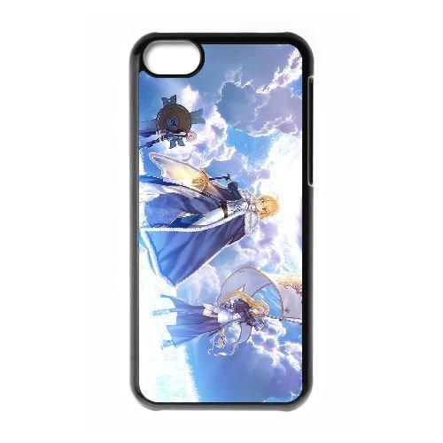 Fate Stay Night 029 coque iPhone 5C Housse téléphone Noir de couverture de cas coque EOKXLLNCD12489