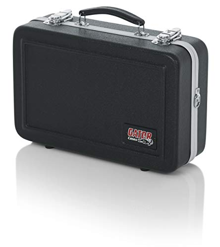 Gator Cases Lightweight Molded Clarinet Case with Locking Latch and Plush Lined Interior; Stackable (GC-CLARINET)