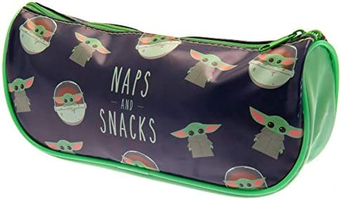 one Size Pyramid Unisex-Youth Star Wars Baby Yoda Naps /& Snacks Pencil Case Pouch Multi