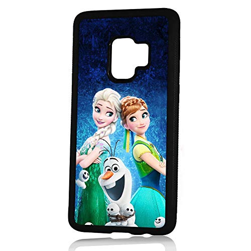 (for Samsung Galaxy S9) Durable Protective Soft Back Case Phone Cover - HOT11546 Frozen Elsa Olaf