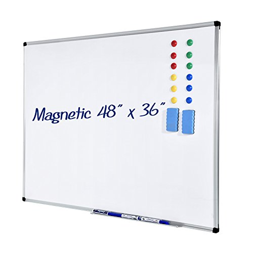 Cheap  Dry Erase Board ,Ymiko White Board 36x48 Inch Magnetic with 4 Marker..