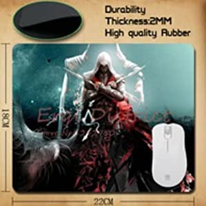Custom Assassins Creed Mouse Pad Beautiful Rectangle Comfortable Mice Pad High Quality Hot Sale by ruishername