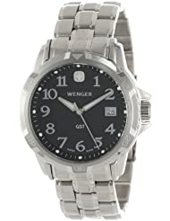 Wenger Mens 78236 GST Black Dial Steel Bracelet Watch