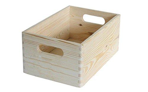 ALLZWECKKISTE AUFBEWAHRUNG HOLZ BOX HOLZBOX HOLZKISTE KASTEN B 40 x T 30 x H 24 cm DECOUPAGE