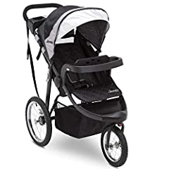 Designed for on-the-go parents and ever-growing babies, the Jeep Deluxe Patriot Open Trails Jogger by Delta Children makes it easier than ever to run errands (or laps!) with your child. This jogging stroller accepts a number of popular infant...