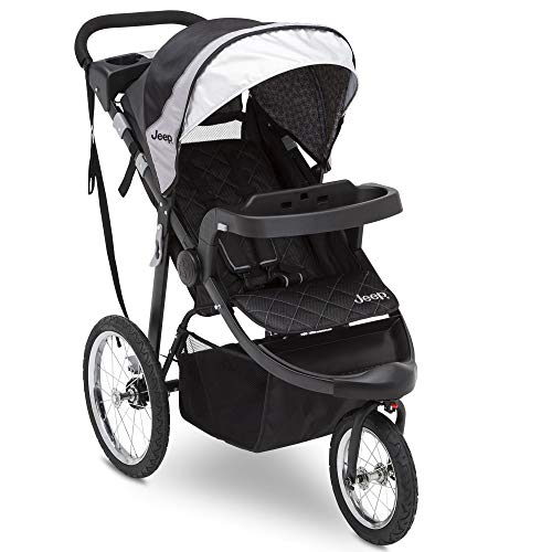Jogging Stroller - Jeep Deluxe Patriot Open Trails Jogger by Delta Children, Charcoal Tracks