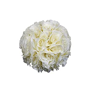 "Shuohu 7"" Flower Kissing Ball Wedding Silk Rose Balls Party Pomander Home Holiday Decor size 18cm 1"