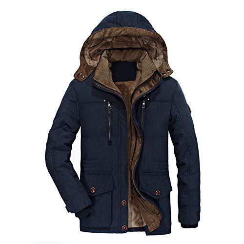 Cotone Blue Cappuccio Invernale Erkek Mont Militari Uomo Pelliccia Da Moda In Imbottito Con Caldo Giacche Casual Giacca Imbottita xvqYnTw