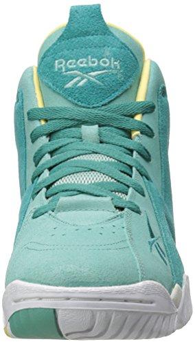 Reebok Herren Kamikaze II Mid Fashion Sneaker Jadeit / Utopic Teal / Weiß / Electric Yellow