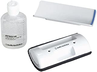 product image for Audio-Technica AT6012 Record Care Kit with Record Care Solution, Brush Pad, Storage Base, and Adhesive Tape
