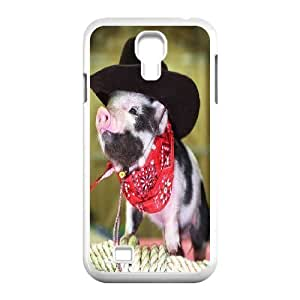 Tyquin Pig Samsung Galaxy S4 Cases the Pig Smug Little Face, {White}