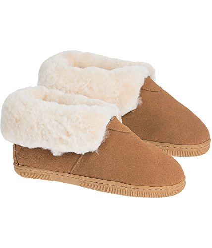 Children's Shearling-Lined Suede Slipper Booties,
