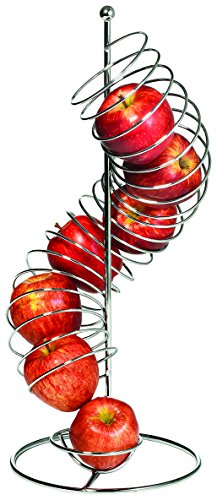 "TableCraft Products FSP1507 Spiral Fruit Basket, 18.5"" Height. 4.25"" Diameter"