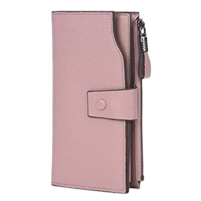 InClovers Womens RFID Blocking Large Capacity Luxury Genuine Leather Clutch Wallet