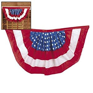 Amazon.com: Red White and Blue Patriotic Flag Bunting Swag 39 ...