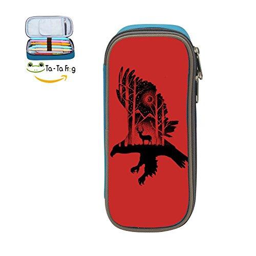 bagshome Big Capacity Canvas Key Bag Holder for Bairn,Print Eagle and Deer,Blue