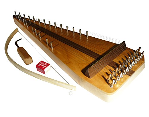 Zither Heaven Artisan Cherry 22 String Bowed Psaltery w/Cherry top by Zither Heaven