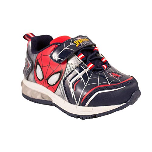 Favorite Characters Boys Marvel Spider-Man Lighted Sneaker (Toddler/Little Kid), Size 11 Red ()