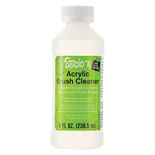 Darice Studio 71 Acrylic Brush Cleaner for Paint Brush Care, 8 fl oz