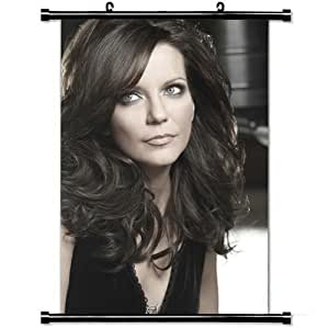 Girly Wall Posters,Martina Mcbride Celebrity Stylish and Custom Wall Scroll Poster Fabric Painting 23.6 X 35.4 Inch (60cm X 90 cm)