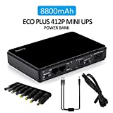 Mini UPS Uninterruptable Power Supply System with POE Current Transfer Function, AC 100V/240V Input 8800mAH DC Power Bank with LED Indicator for Webcam/CCTV Camera/Wrieless Router