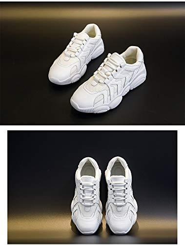 Deporte Mujer 5 A Las Zapato Zhijinli Llevar Pequeñas Tamaño 6 5 Zapatillas Bajas Solo De Un Para Blancas 5size Ayudar qRPZI