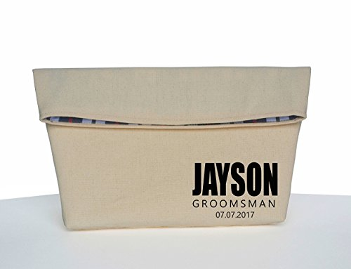 Amore Beaute Personalized Groomsmen Dopp Kit | Name, Wedding Date Printed Toiletry Bag,Creative Valentines Gift by Amore Beaute