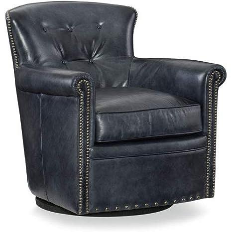 Tremendous Amazon Com Hooker Furniture Jacob Leather Swivel Club Chair Pabps2019 Chair Design Images Pabps2019Com